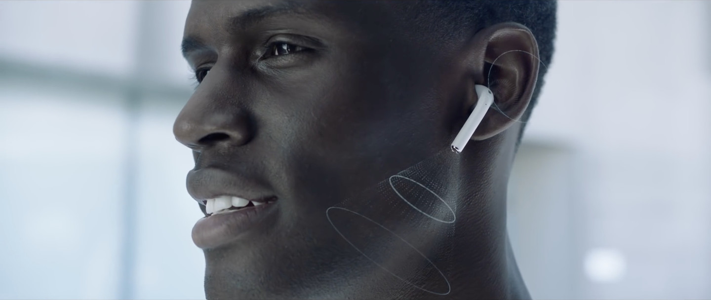airpods talking