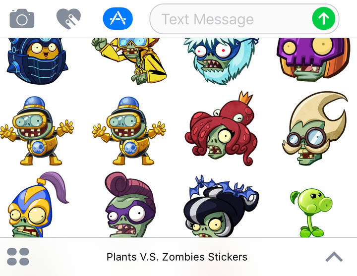 And even if you're not into CCGs, there is a new PvZ sticker pack available for iMessage in iOS 10.