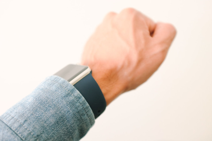 Replica Apple Watch Sport Band on my wrist