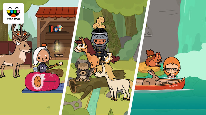 The game, designed for kids 6-8, is all about building an adventure.