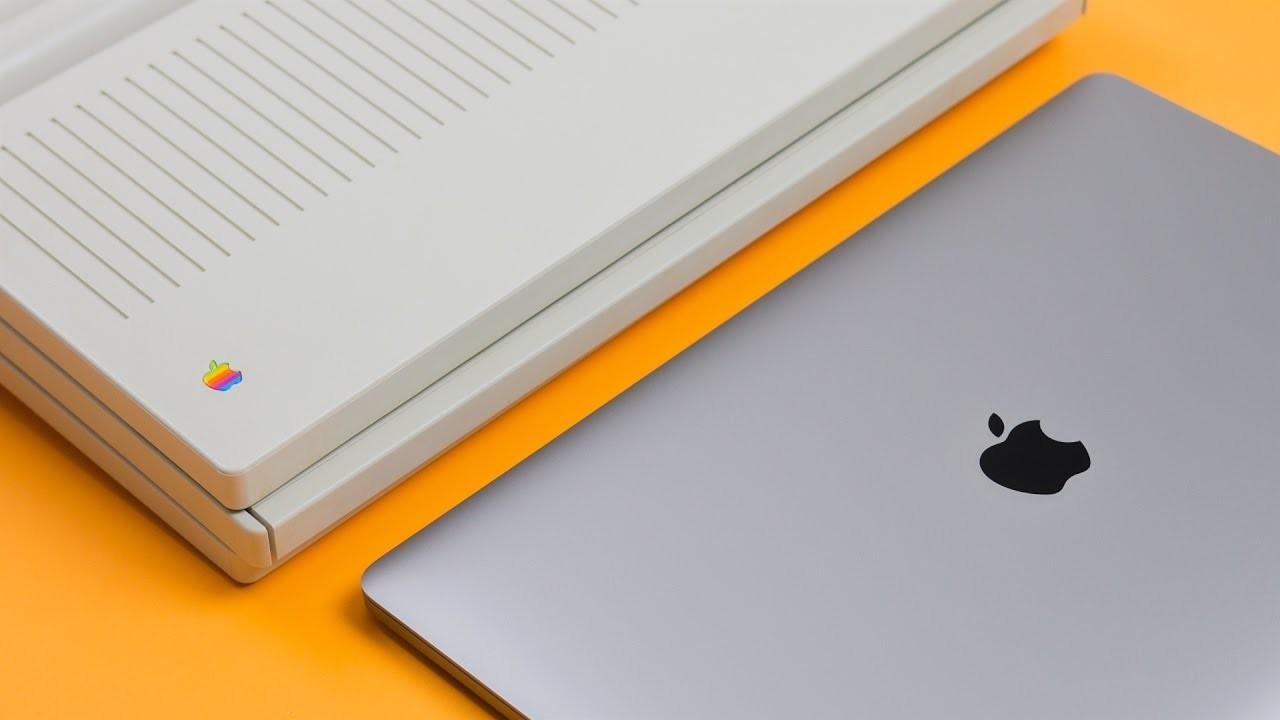 First Apple Laptop vs MacBook Pro 2016