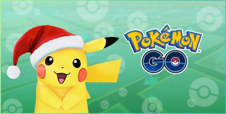 Pokémon Go update Pikachu Santa hat