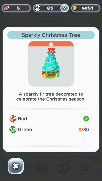Super Mario Run Friendly Run fir tree