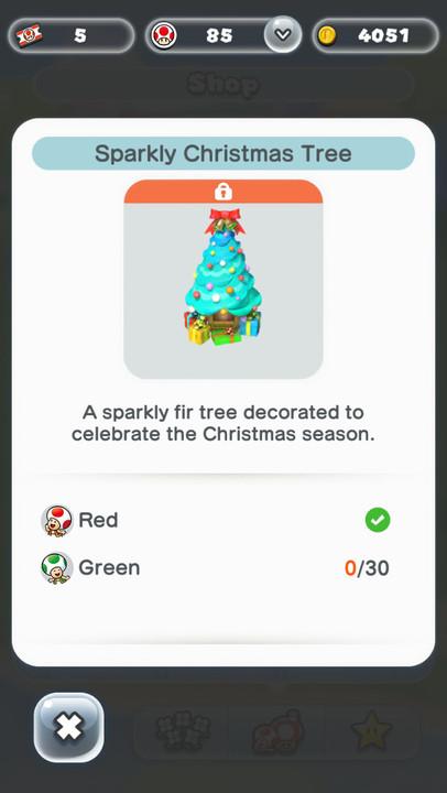 Super Mario Run Friendly Run fir tree