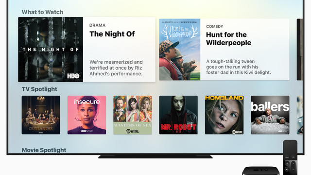 Featuring the TV App, tvOS 10.1 Arrives on the Fourth-Generation Apple TV