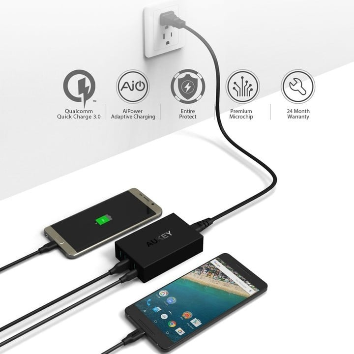 AUKEY USB Charger with USB C