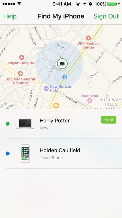 Find My iPhone locate