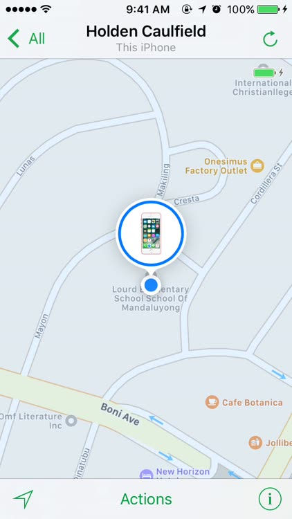 Find My iPhone play a sound
