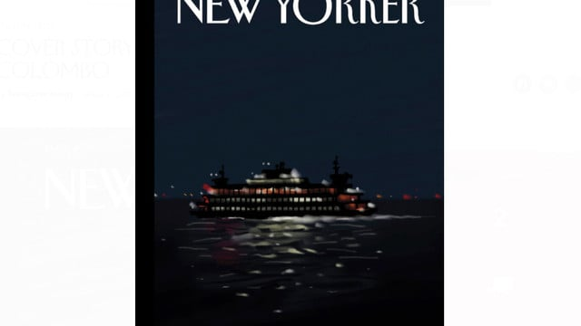 This New Yorker Magazine Cover is Drawn with an Apple Pencil and iPad Pro