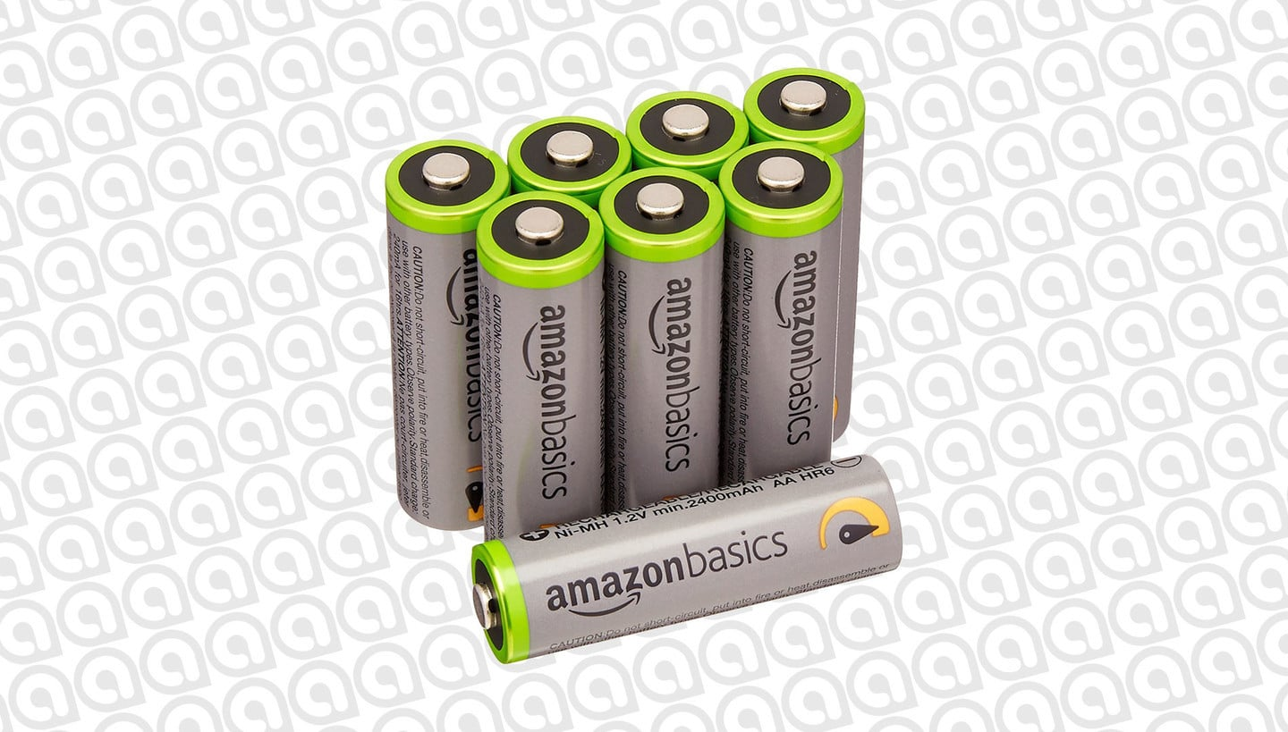 Get an 8-Pack of AmazonBasics AA Rechargeable Batteries for $16
