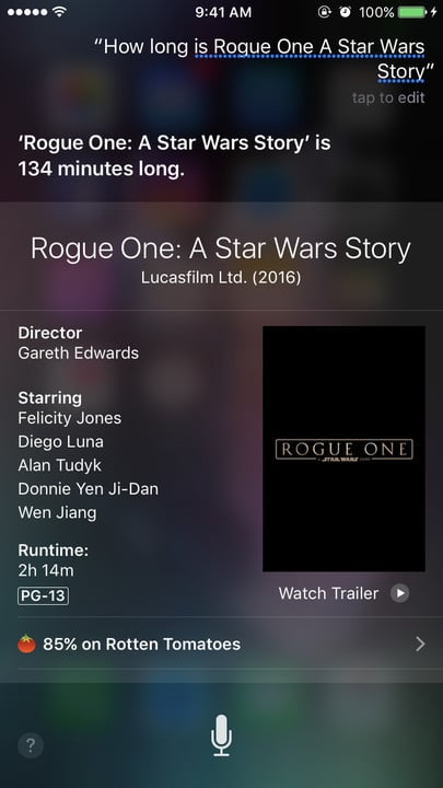 Siri movie Easter eggs running time