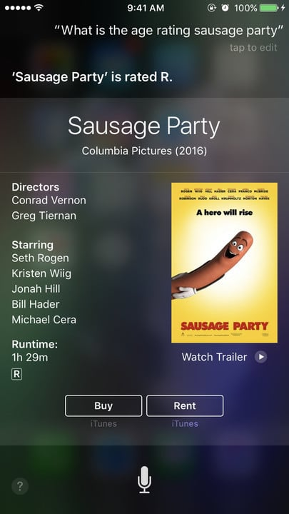 Siri movie Easter eggs age rating