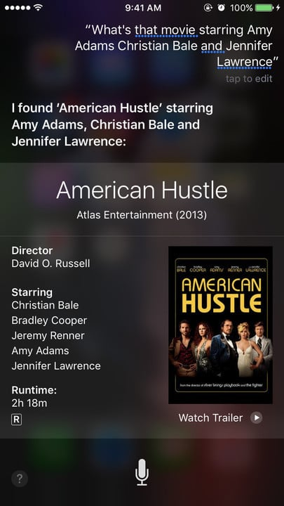 Siri movie Easter eggs Amy Adams Jennifer Lawrence Christian Bale