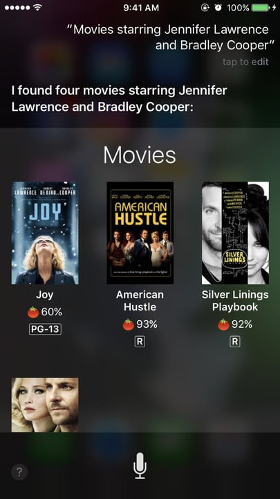 Siri movie Easter eggs Jennifer Lawrence Bradley Cooper