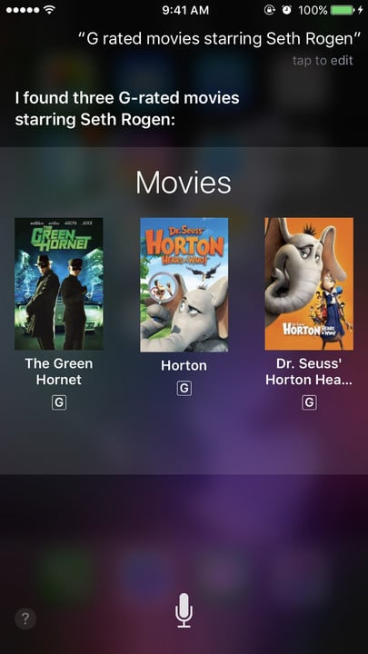 Siri movie Easter eggs G Seth Rogen