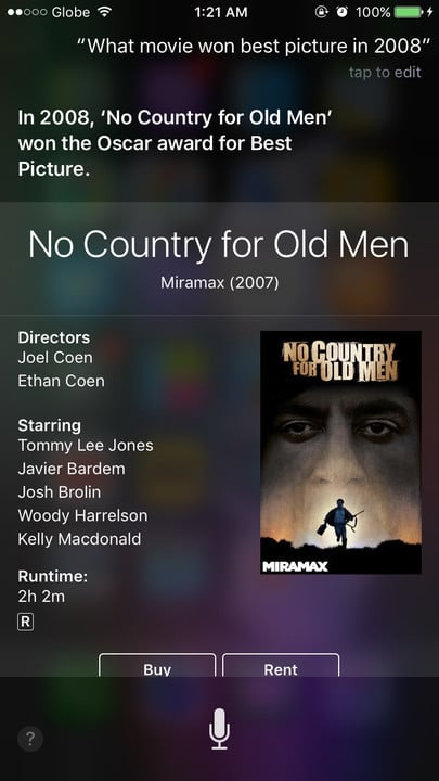 Siri movie Easter eggs best picture No Country for Old Men