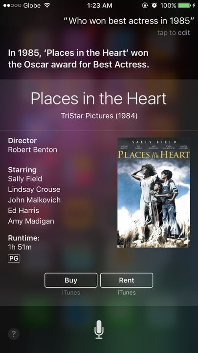 Siri movie Easter eggs best actress Places in the Heart