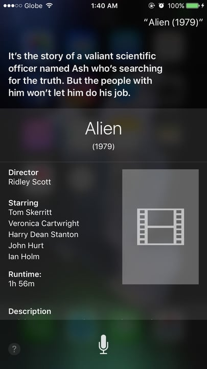 Siri movie Easter eggs Alien