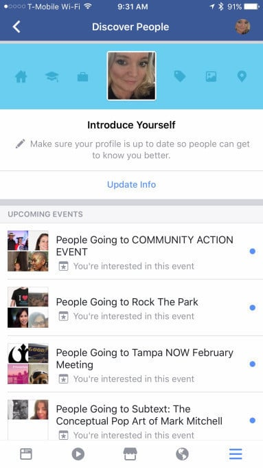 A look at the new Discover People section. It is currently rolling out to all iOS app users.