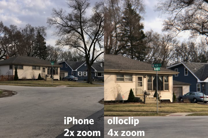 iPhone 2x Zoom (left) vs Olloclip 4x Zoom (right)