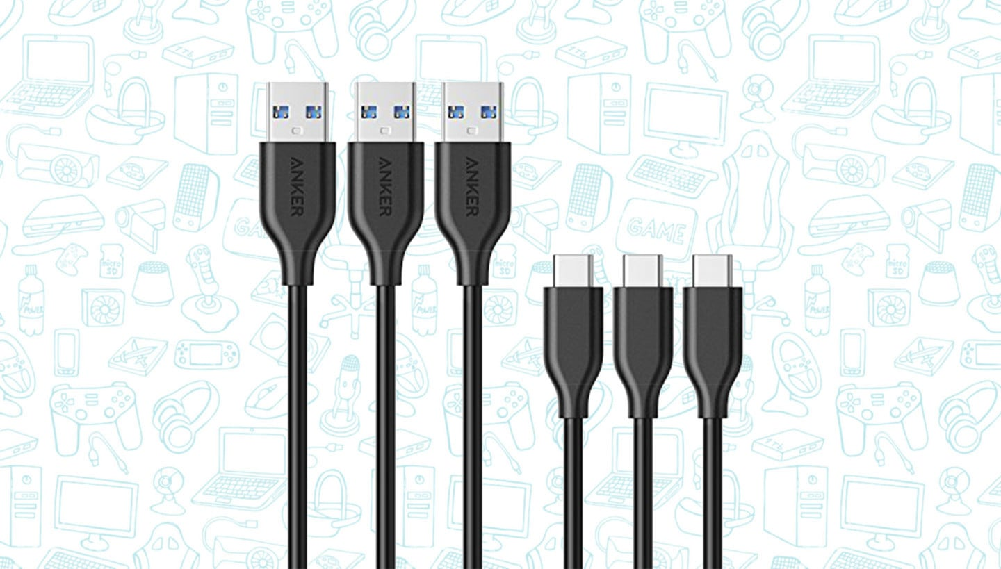 Get a 3-Pack of Anker's PowerLine USB-C to USB 3.0 Cables for $10