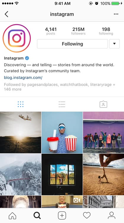 Viewing Instagram Stories - Exit story
