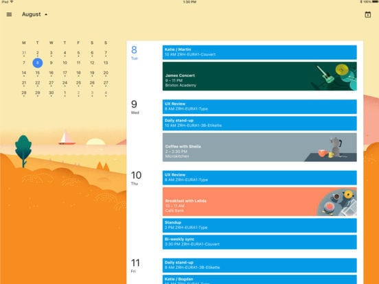 Google Calendar for iPad 5