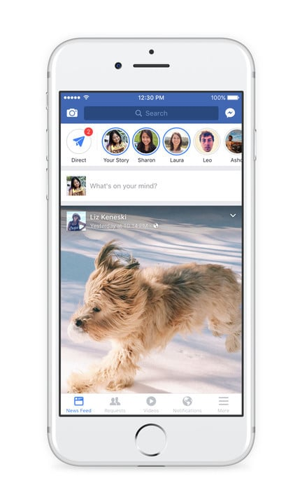 Your Facebook Story, and your friends' stories, will live on top of your News Feed