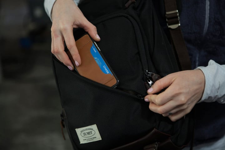 The slim wallet option can hold up to four credit cards.