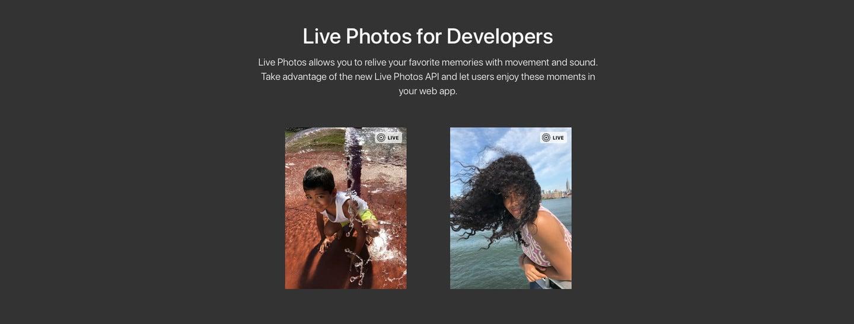 LivePhotosKit API