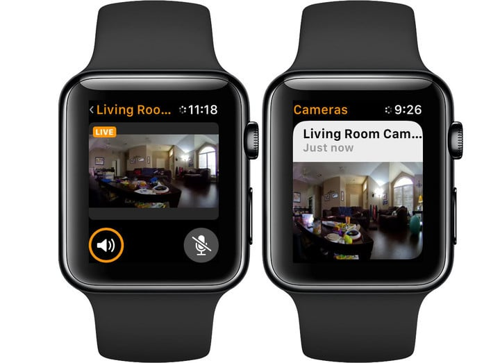 Thanks to HomeKit compatiblity, You can view live video even on the Apple Watch.