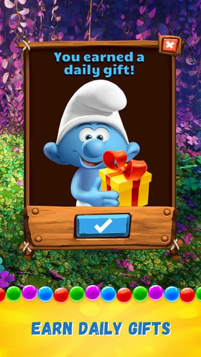 Smurfs Bubble Story 4