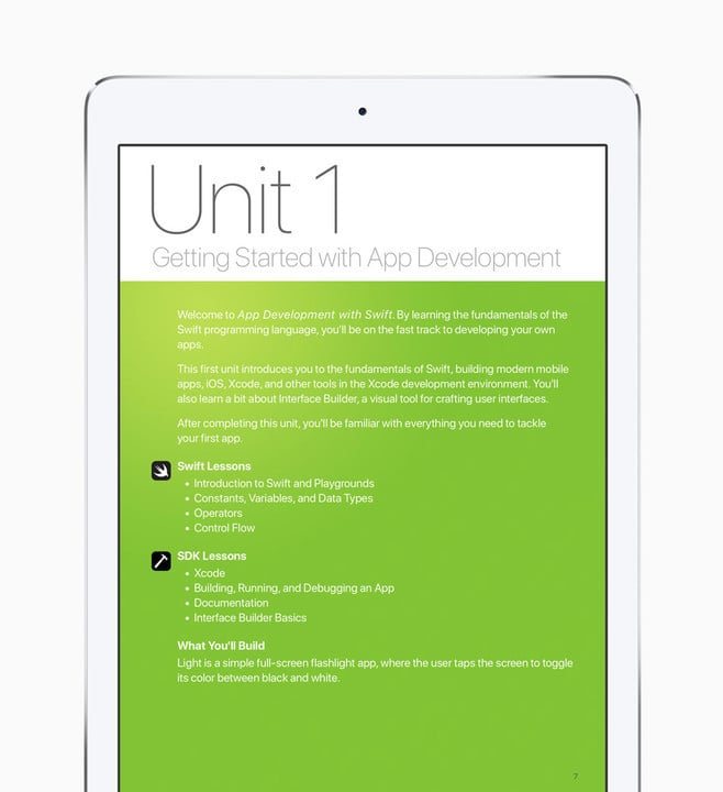 The curriculum can be downloaded now for free from the iBooks Store.