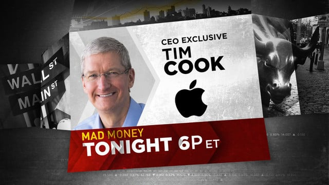 Apple's Tim Cook Will Appear on CNBC's 'Mad Money' Tonight