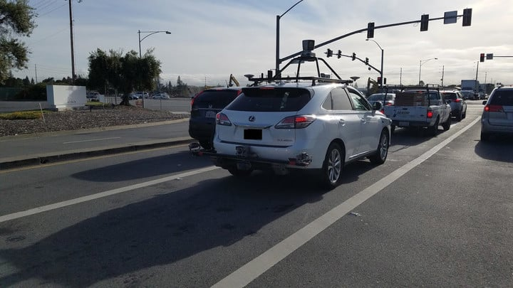 One of the Lexus RX450h used by Apple was recently spotted in California.
