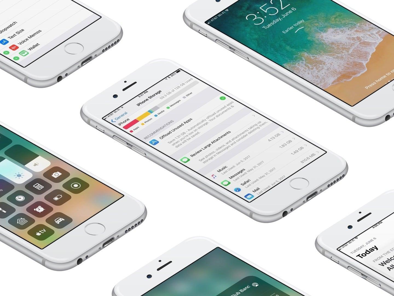 iOS 11 storage