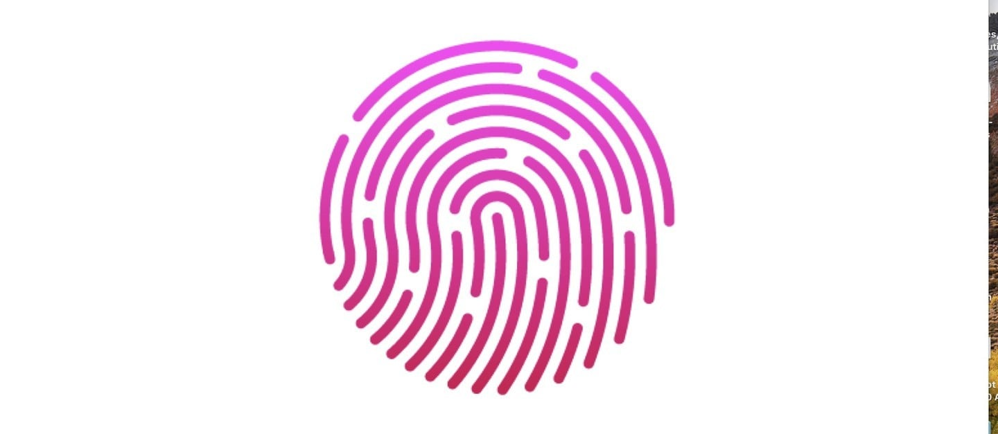 no embedded Touch ID