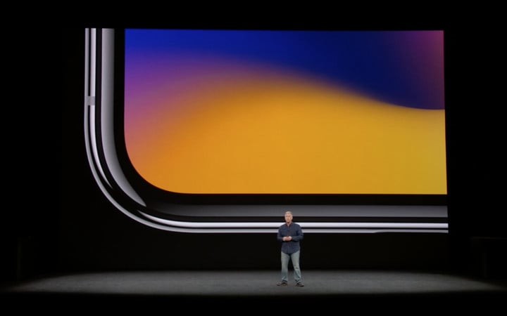 The iPhone X has a nearly edge-to-edge display.