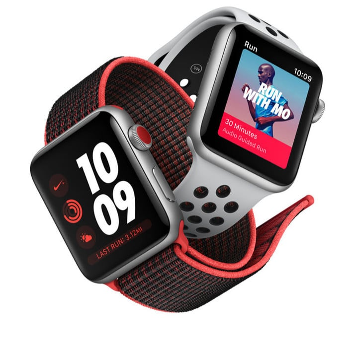 The Nike+ option features exclusive watch faces and more.