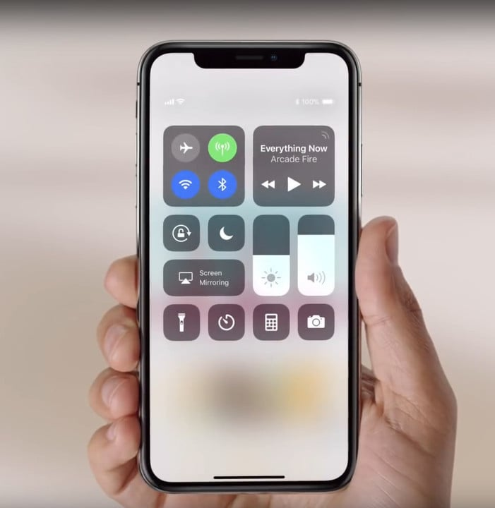 One way to see an exact battery percentage is through Control Center.