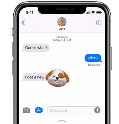 An Animoji can also be made into a sticker