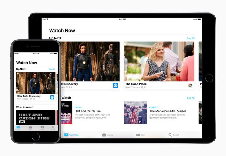 The TV app is also available in iOS 11.2