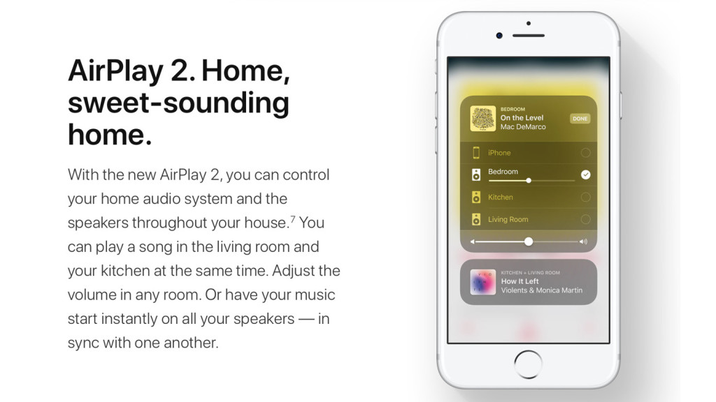 Apple Removes AirPlay 2 from the Latest iOS 11.3 and tvOS 11.3 Beta Versions