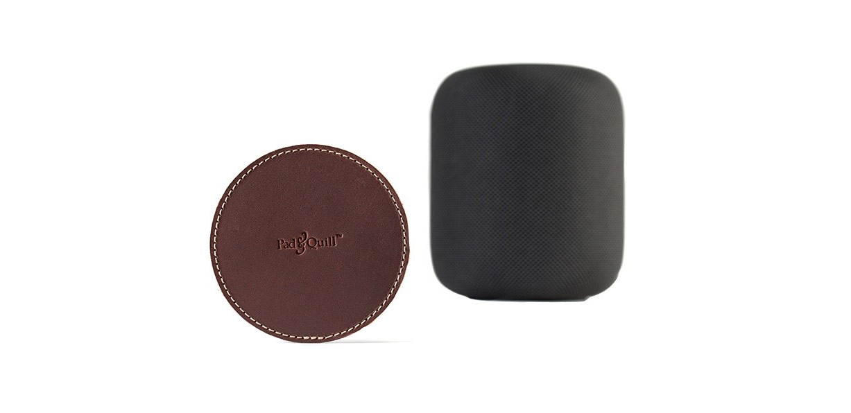 Pad & Quill Hits the Mark with its New Leather Coaster for HomePod