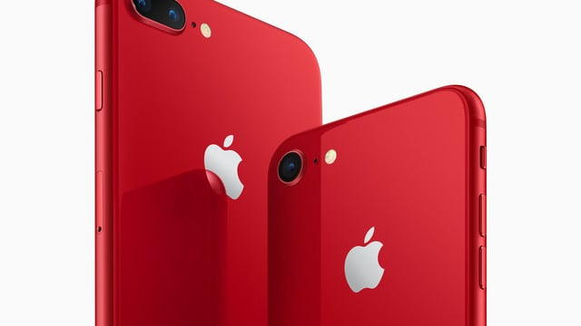 Apple Unveils iPhone 8 / 8 Plus (PRODUCT)RED Special Edition