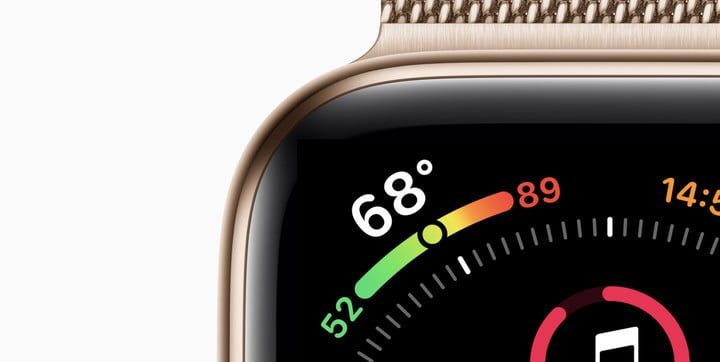 The edge-to-edge design of the Series 4 looks great.