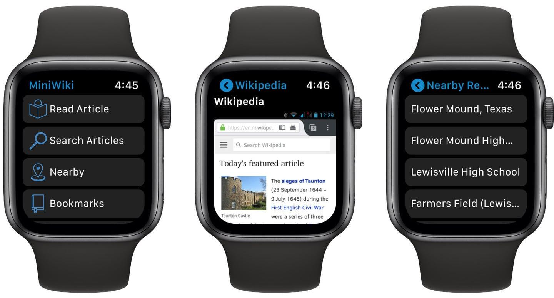 MiniWiki Brings Wikipedia to Apple Watch