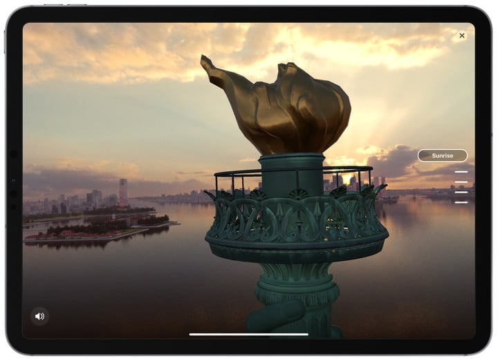 You can also experience an AR-powered view from the statue's torch during different times of the day.