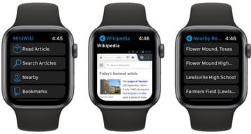 MiniWiki for Apple Watch Updated With Random Article Feature and More