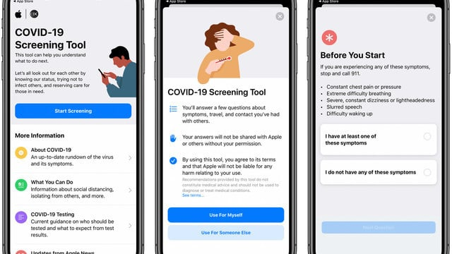Apple Launches New COVID-19 Screening App